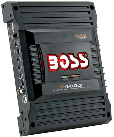 boss d400 2 800w max 2 channel diablo series amplifier d4002 top car audio. Black Bedroom Furniture Sets. Home Design Ideas